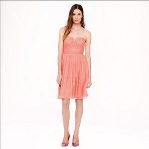 J Crew Nadia silk chiffon dress in dusty rose